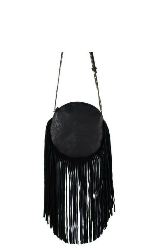 CIRCLE FRINGE CROSSBODY