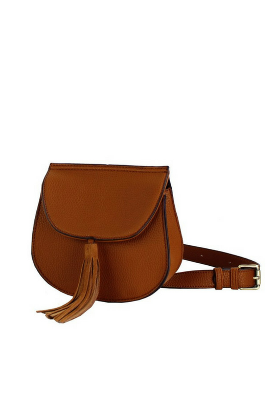 CROSSBODY SADDLE BAG WITH TASSEL