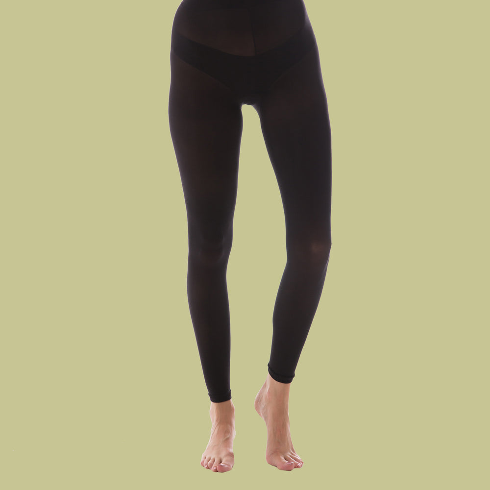 Recycled Black Footless Tights - 50 Denier