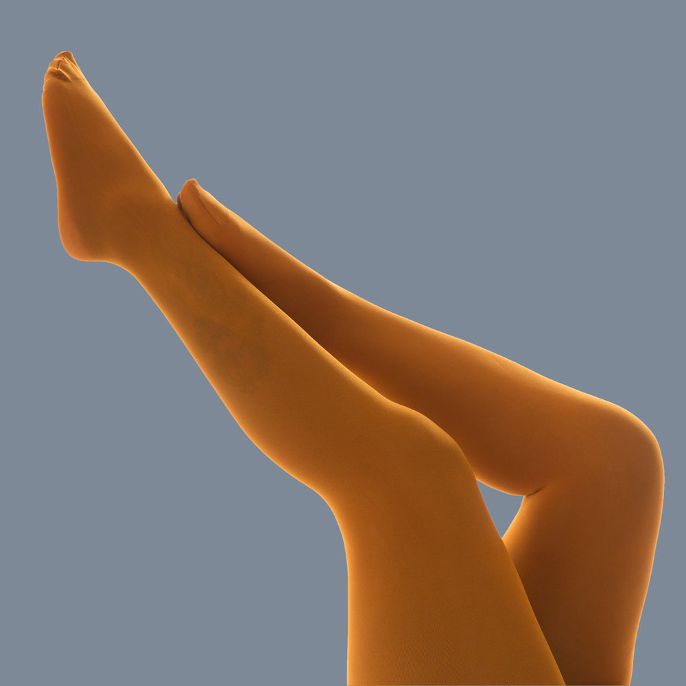 Load image into Gallery viewer, Saffron Opaque Tights - 50 Denier