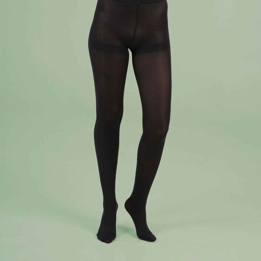 Load image into Gallery viewer, Black Opaque Tights - 80 Denier
