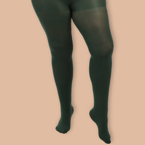 Green Opaque Tights - 80 Denier