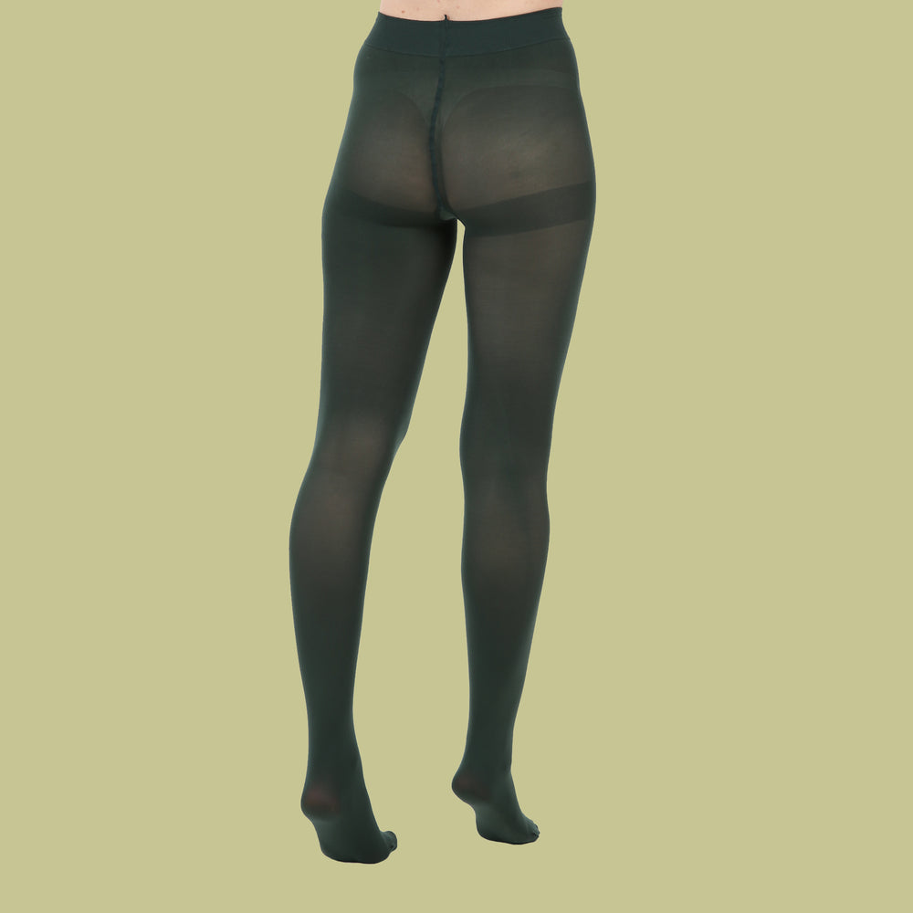 Load image into Gallery viewer, Green Opaque Tights - 80 Denier
