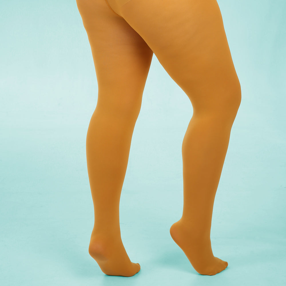 Mustard Opaque Tights - 80 Denier