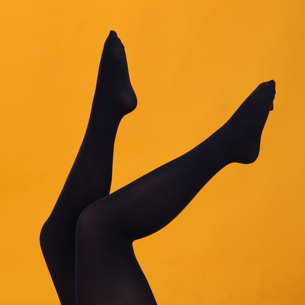 Load image into Gallery viewer, Navy Opaque Tights -  80 Denier