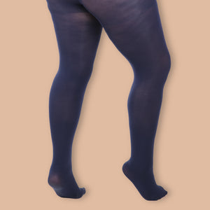 Navy Opaque Tights -  80 Denier
