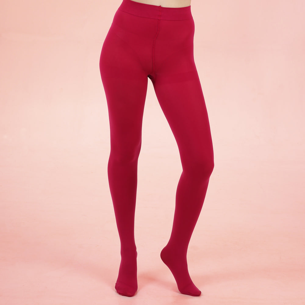 Pink Opaque Tights - 80 Denier