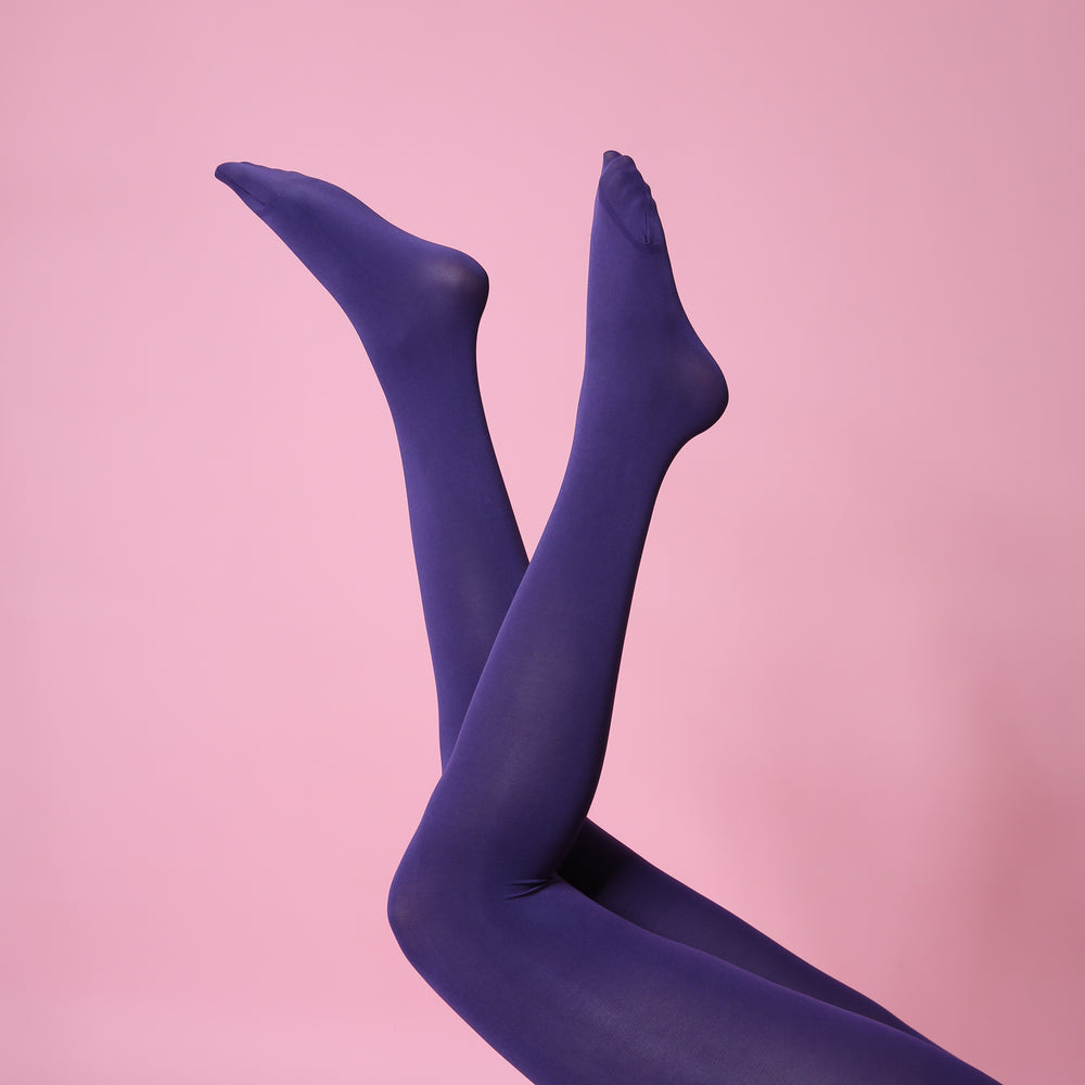 Purple Opaque Tights - 80 Denier