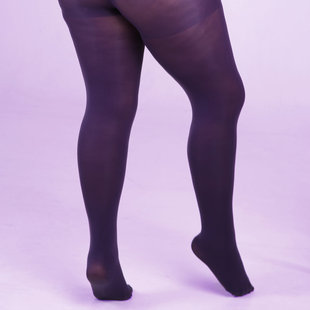 Load image into Gallery viewer, Purple Opaque Tights - 80 Denier