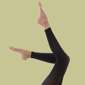 Recycled Black Footless Tights - 80 Denier