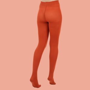 Rust Opaque Tights - 80 Denier