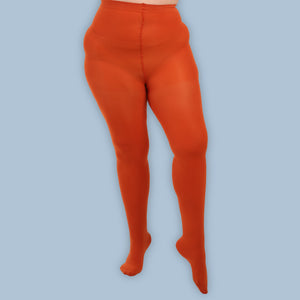 Load image into Gallery viewer, Rust Opaque Tights - 80 Denier