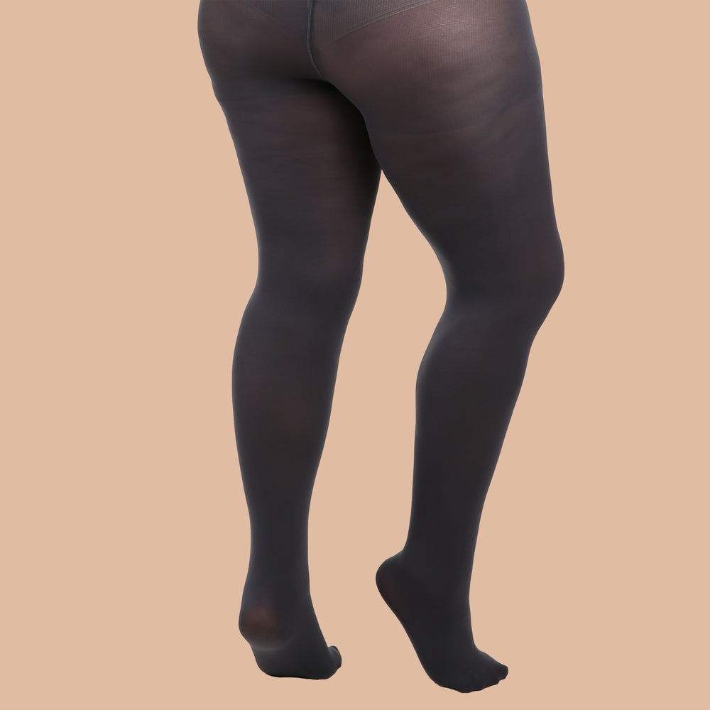 Slate Grey Opaque Tights - 80 Denier