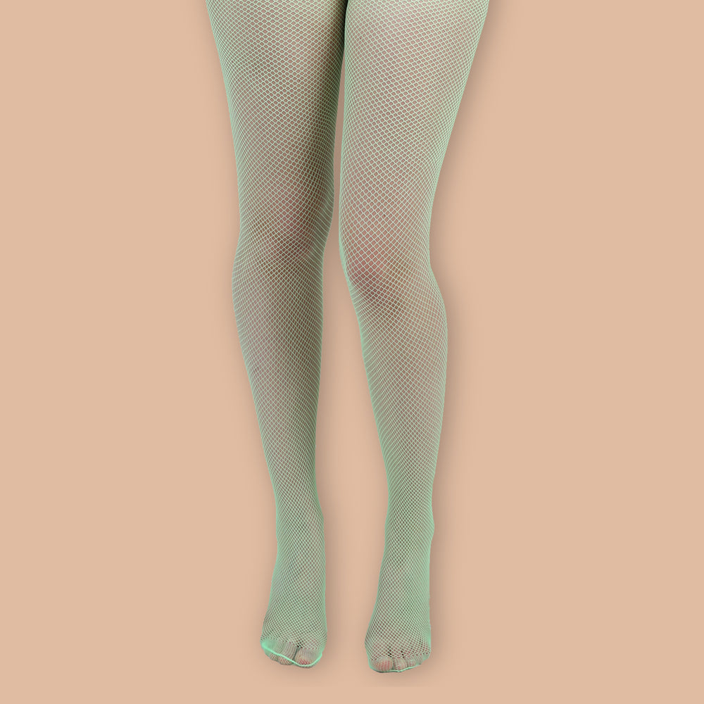 Load image into Gallery viewer, Flo Green Fishnet Tights