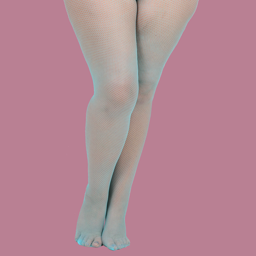 Flo Turquoise Fishnet Tights
