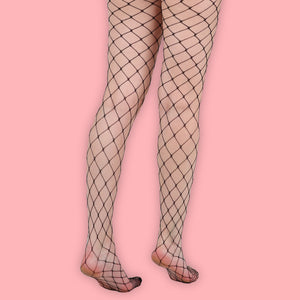 Black Large Net Fishnet Tights