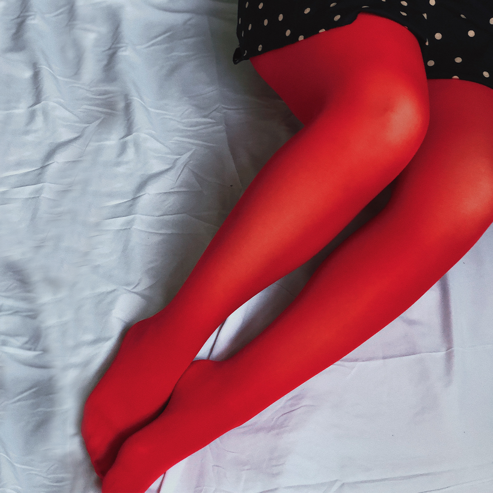Deep Red Opaque Tights - 50 Denier
