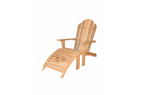 Anderson Teak ANDERSON TEAK Adirondack with Ottoman Seating