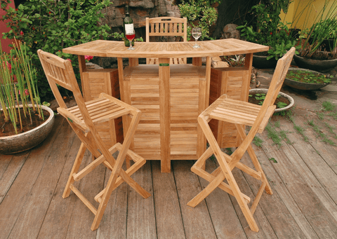 Anderson Teak ANDERSON TEAK Altavista 5-Pieces Bar Set Dining