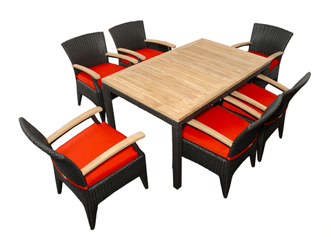 Anderson Teak ANDERSON TEAK Bellagio Dining Table Set Dining
