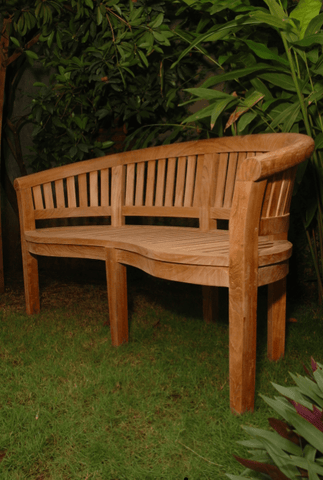 Anderson Teak ANDERSON TEAK Curve 3-Seater Extra Thick Bench Seating
