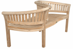 Anderson Teak ANDERSON TEAK Curve Love Seat Bench Seating