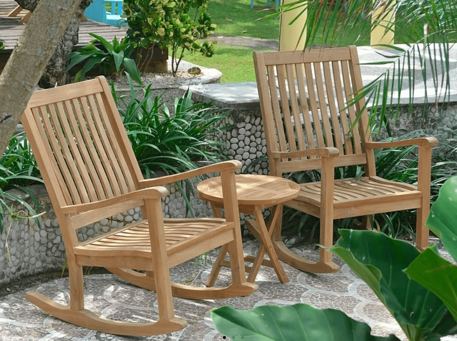 Anderson Teak ANDERSON TEAK Del-Amo Bahama 3-Pieces Set with Folding Round Side Table Seating