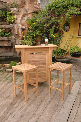 Anderson Teak ANDERSON TEAK Montego 3-Pieces Bar Set Dining