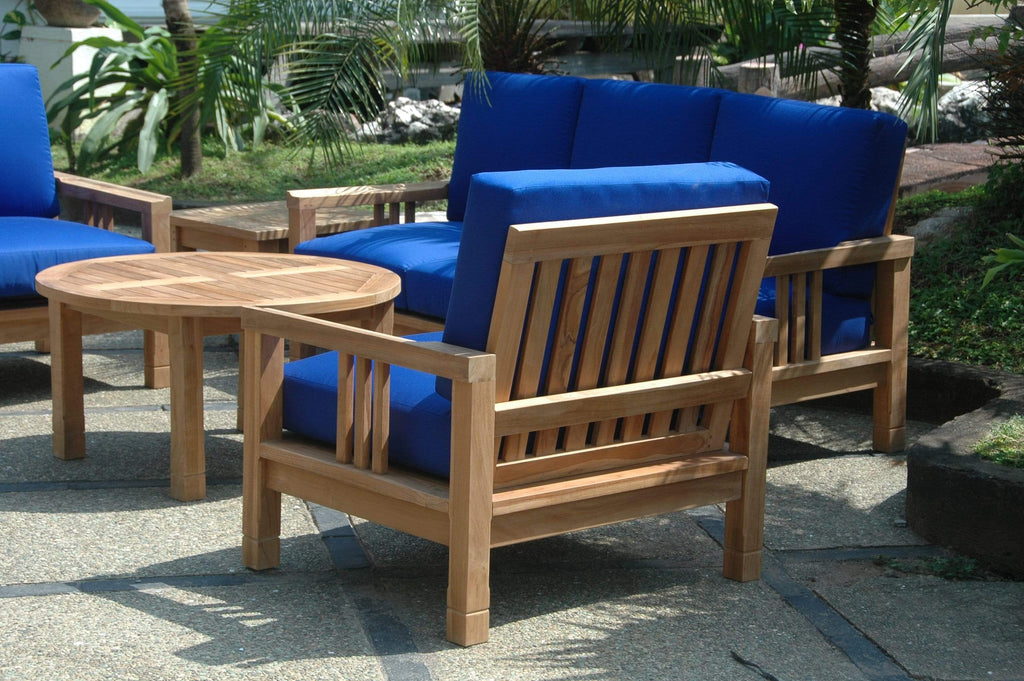 Anderson Teak ANDERSON TEAK SouthBay Deep Seating 5-Pieces Round Table Conversation Set Seating