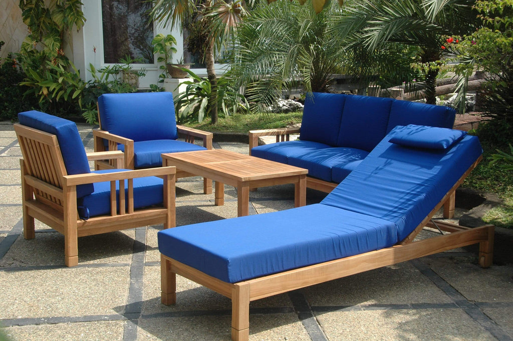 Anderson Teak ANDERSON TEAK SouthBay Deep Seating Sun Lounger 6-Pieces Conversation Set Seating