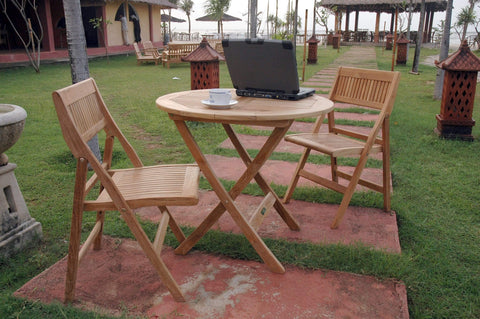 Anderson Teak ANDERSON TEAK Windsor 3-pieces Round Bistro Set Dining