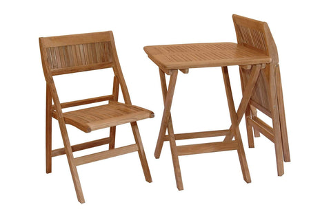 Anderson Teak ANDERSON TEAK Windsor 3-pieces Square Bistro Set Dining