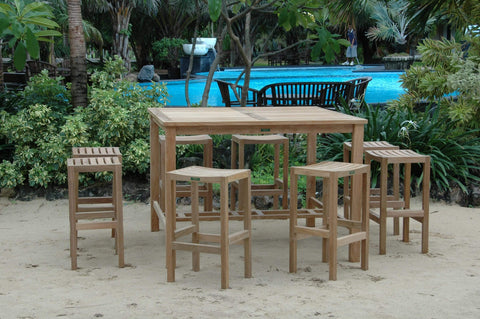 Anderson Teak ANDERSON TEAK Windsor Montego 9-Pieces Square Bar Set Dining
