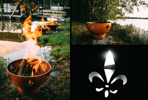 Fire Pit Art FIRE PIT ART Fleur de Lis Wood Burning Outdoor Warmer