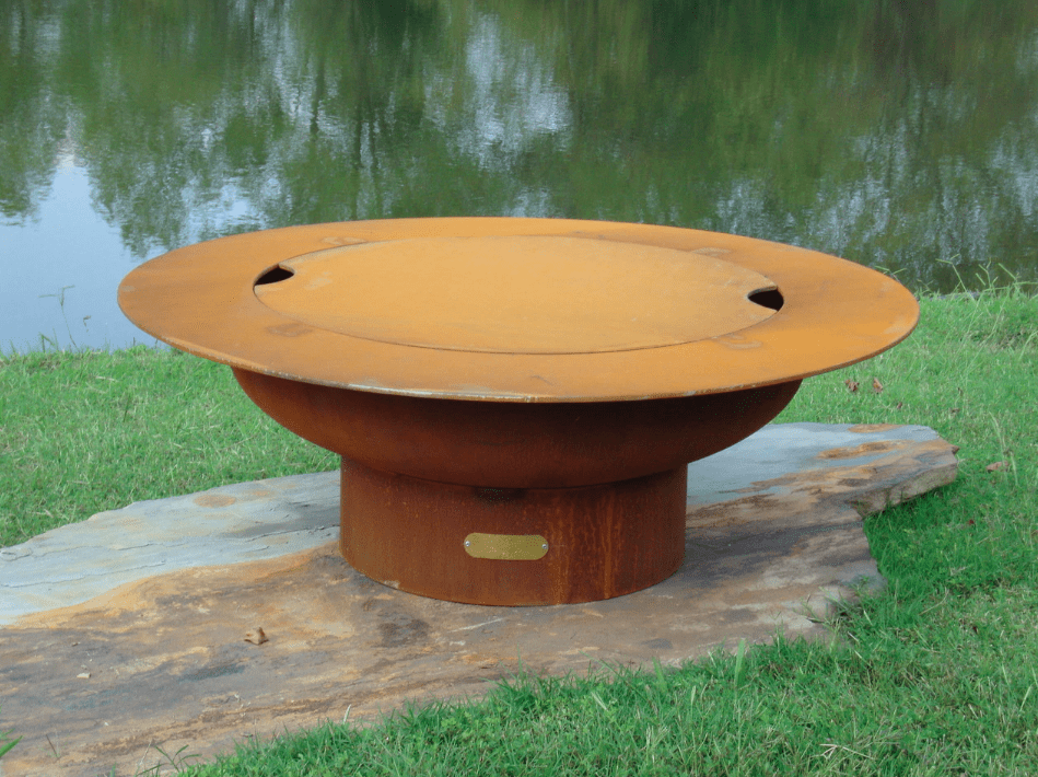 Fire Pit Art FIRE PIT ART Magnum with Lid Wood Burning Outdoor Warmer