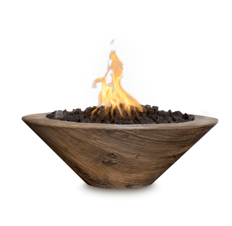 OUTDOOR PLUS FOREVER PATIO Cazo Wood Grain Fire Bowl fire bowls