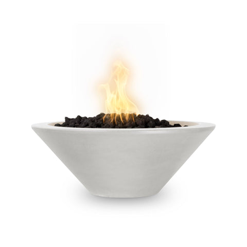 "OUTDOOR PLUS OUTDOOR PLUS Cazo Concrete Fire Bowl Limestone / Match Lit / 24"" Fire Bowls"