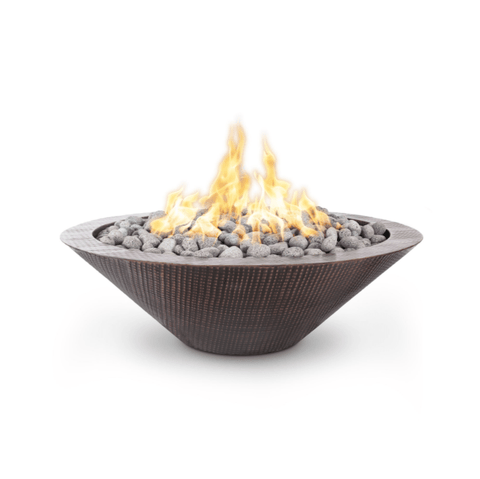 OUTDOOR PLUS OUTDOOR PLUS Cazo Fire Pit – Hammered Copper – No Ledge 48 / Match Lit / Hammered Copper Fire Pits