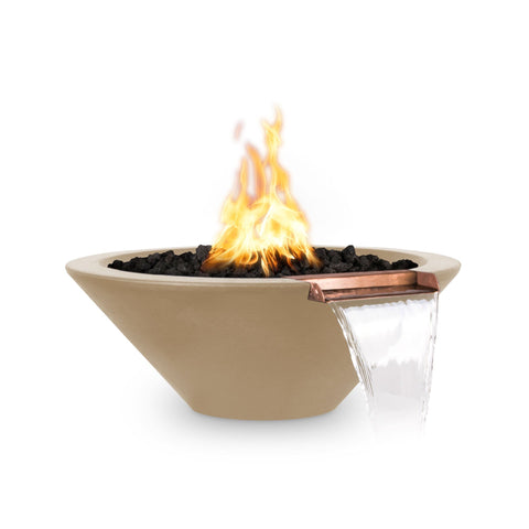 OUTDOOR PLUS OUTDOOR PLUS Cazo Fire & Water Bowl Brown / 24 / Match Lit Fire & Water Bowl