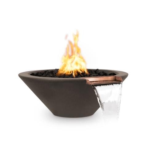 OUTDOOR PLUS OUTDOOR PLUS Cazo Fire & Water Bowl Chocolate / 24 / Match Lit Fire & Water Bowl