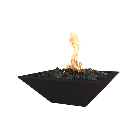 "OUTDOOR PLUS OUTDOOR PLUS Maya Concrete Fire Bowl Black / Match Lit / 24"" Fire Bowls"