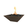 "Image of OUTDOOR PLUS OUTDOOR PLUS Maya Concrete Fire Bowl Chocolate / Match Lit / 24"" Fire Bowls"