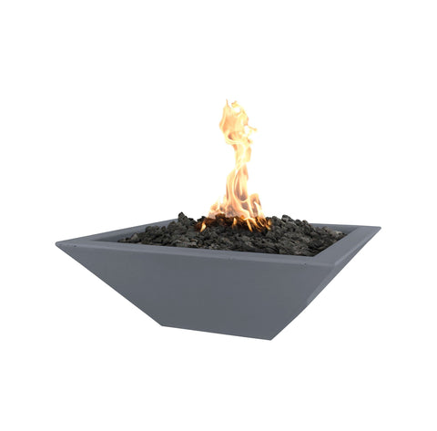 "OUTDOOR PLUS OUTDOOR PLUS Maya Concrete Fire Bowl Gray / Match Lit / 24"" Fire Bowls"