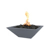"Image of OUTDOOR PLUS OUTDOOR PLUS Maya Concrete Fire Bowl Gray / Match Lit / 24"" Fire Bowls"