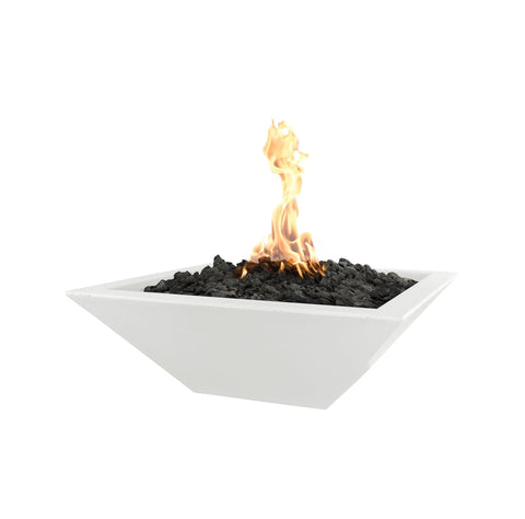 "OUTDOOR PLUS OUTDOOR PLUS Maya Concrete Fire Bowl Limestone / Match Lit / 24"" Fire Bowls"