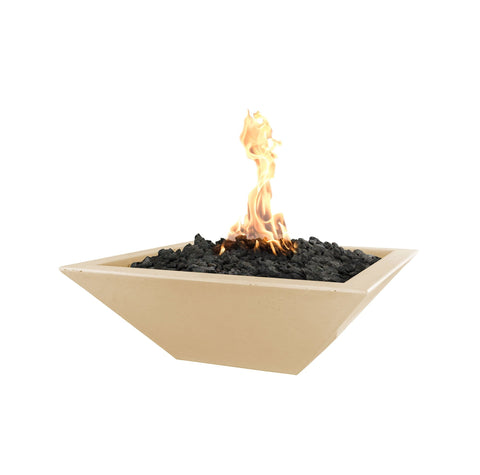"OUTDOOR PLUS OUTDOOR PLUS Maya Concrete Fire Bowl Vanilla / Match Lit / 24"" Fire Bowls"