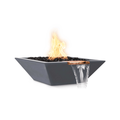 OUTDOOR PLUS OUTDOOR PLUS Maya Fire & Water Bowl Match Lit / 24 / Gray Fire & Water Bowl
