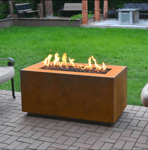 OUTDOOR PLUS OUTDOOR PLUS Pismo Collection Fire Pits Corten Steel / Match Lit / 48 Fire Pits