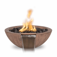 OUTDOOR PLUS OUTDOOR PLUS Sedona Wood Grain Fire & Water Bowl 27 / Match Lit / Oak Fire & Water Bowl