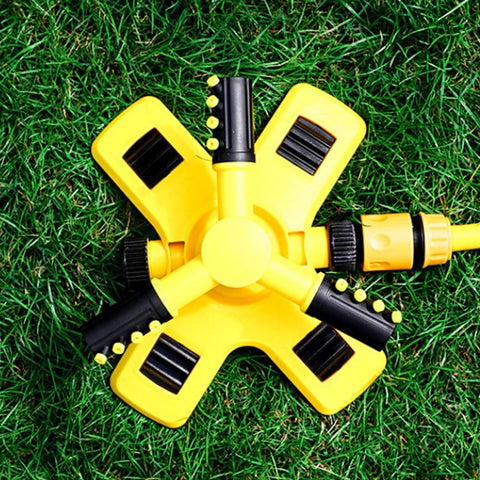 Patio Furniture Land 3 Nozzles  Rotating Lawn Sprinkler Garden
